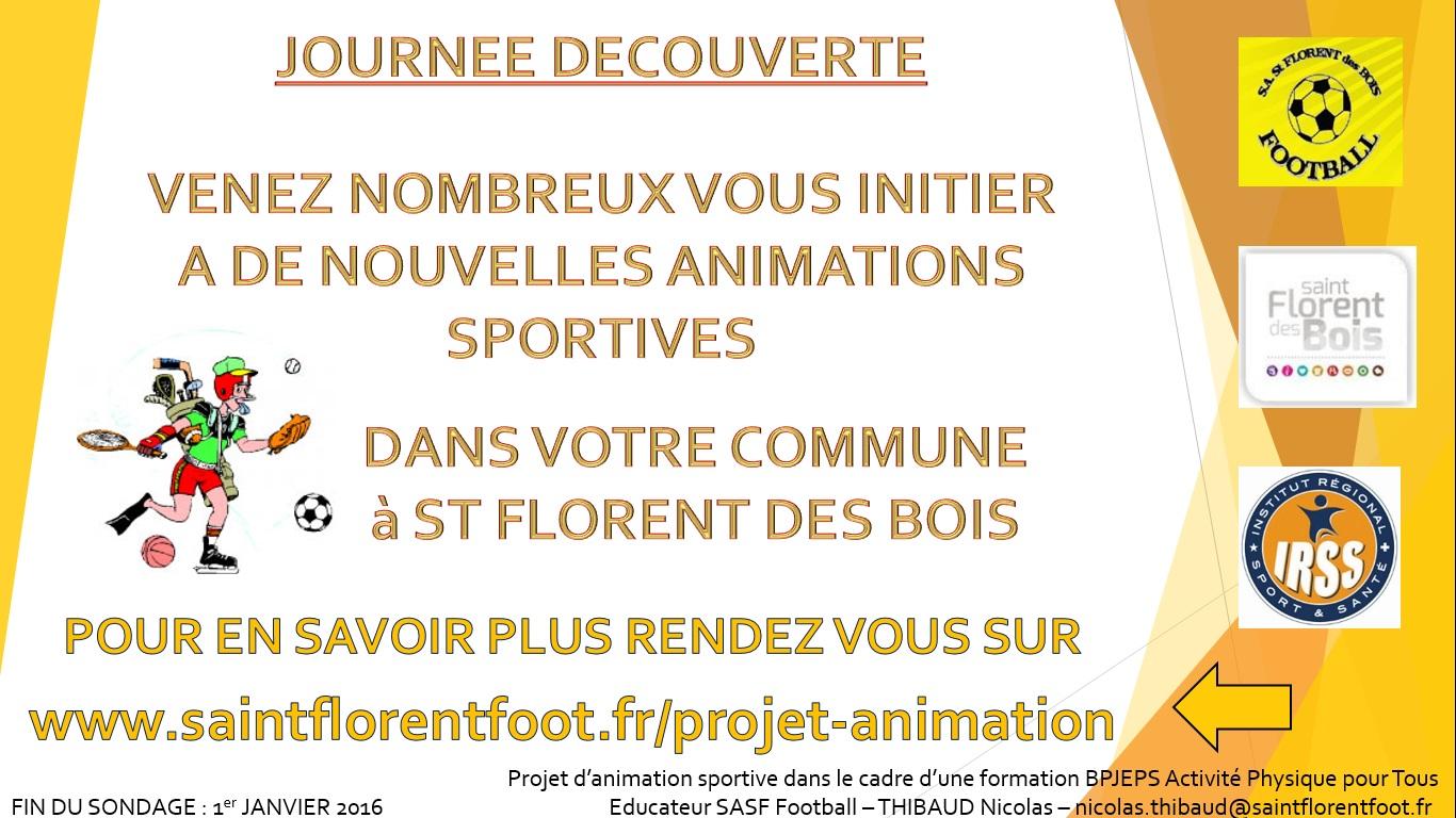Projet d animation sasf football for Projet d animation cuisine